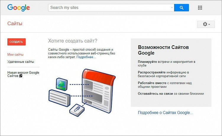 Создание сайтов гугл пошагово создание скрипта сайта